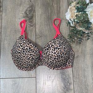 Victoria's Secret PINK Cheetah Print Push Up Bra